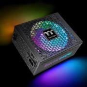Toughpower PF1 ARGB Platinum Series (850W/1050W/1200W) is crafted using premium components and advanced technology to become the fusion of aesthetics and performance. The patented 16.8 million-color Riing Duo 14 RGB fan with 18 LEDs preinstalled helps deliver brighter and richer lighting. The meticulously designed ARGB side panels allow the light to glow through. The series supports synchronization with RGB motherboards from ASUS, GIGABYTE, msi, and ASRock for counteless illumination poossibilities. With near silent and reliable operation, the Toughpower PF1 ARGB Platinum meets and even exceeds the demanding specification of the overclocker or enthusiast PC user.